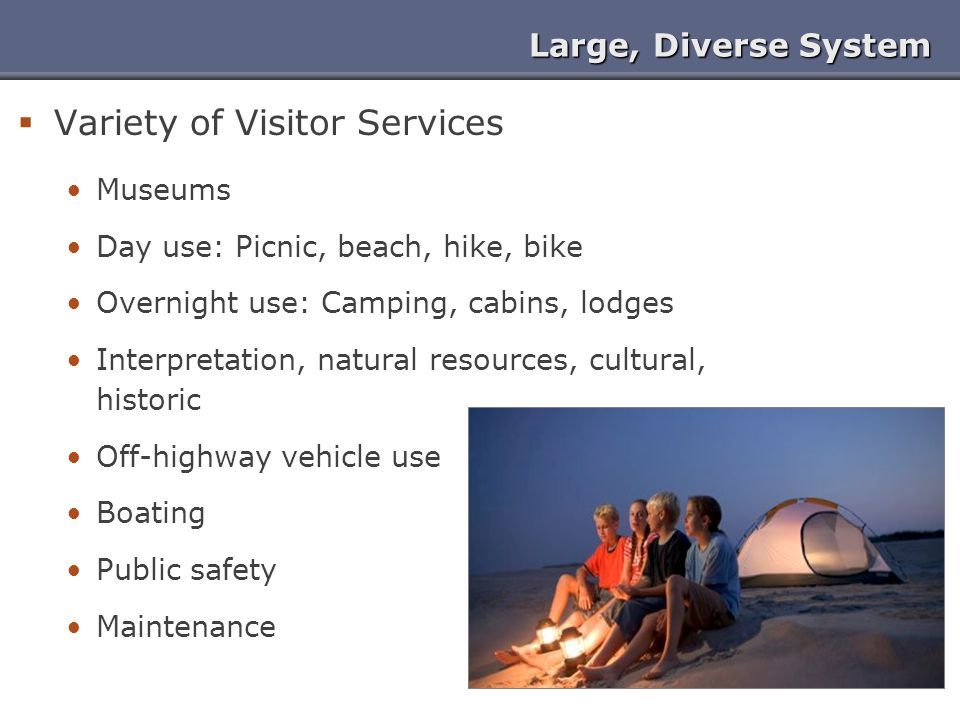 Variety of Visitor Services