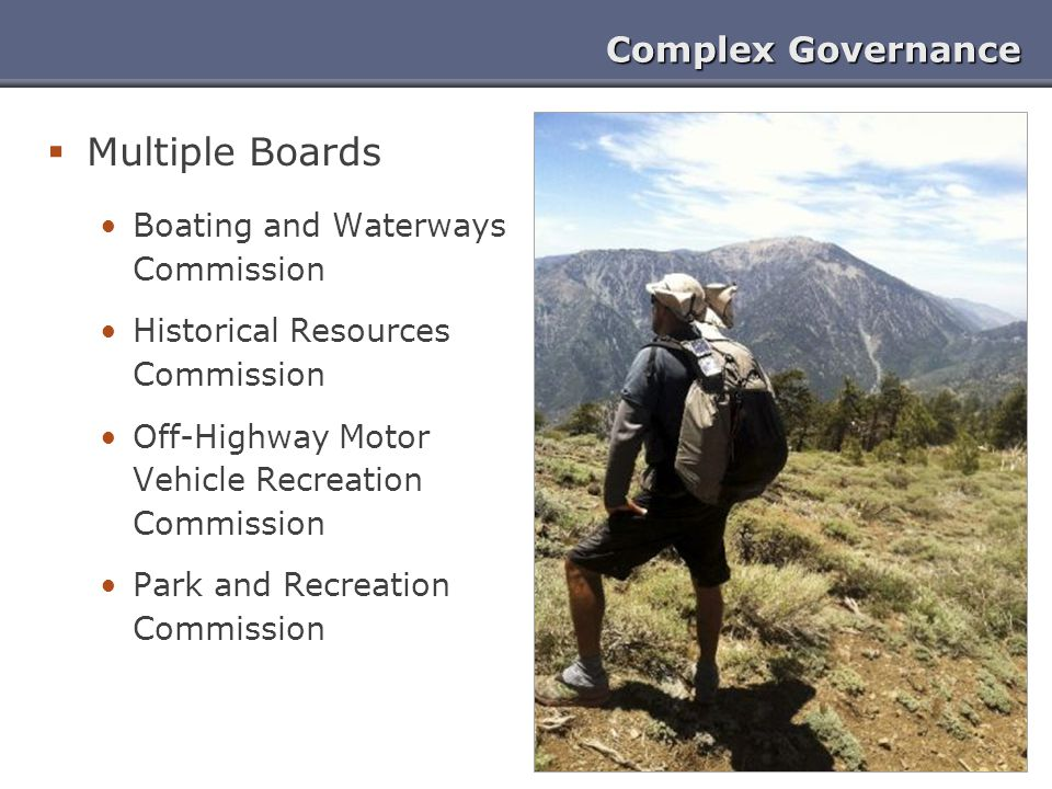 Multiple Boards Complex Governance Boating and Waterways Commission