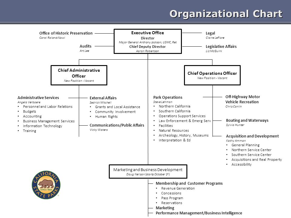 Chief Administrative Officer Chief Operations Officer