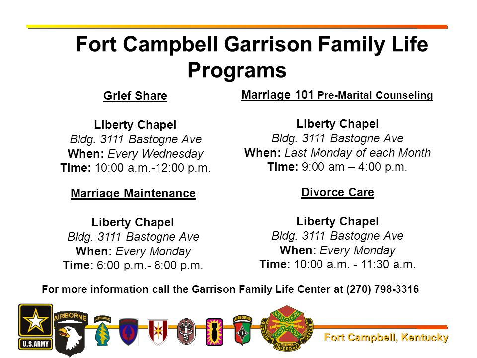 Fort Campbell Garrison Family Life Programs