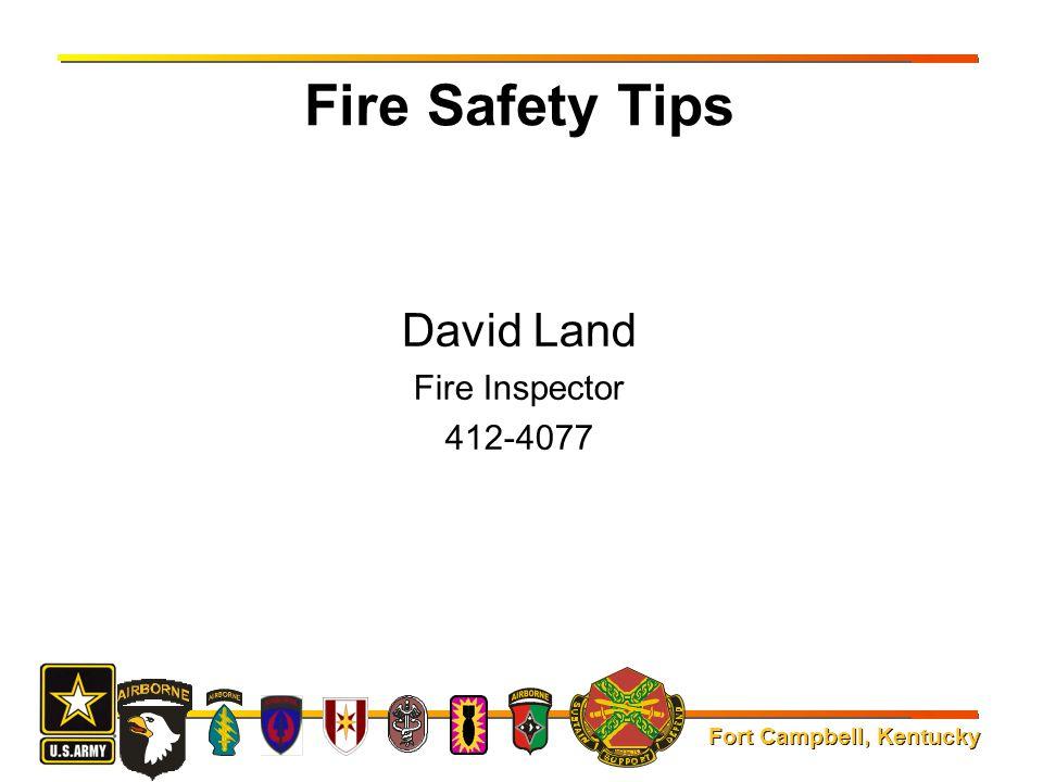David Land Fire Inspector 412-4077