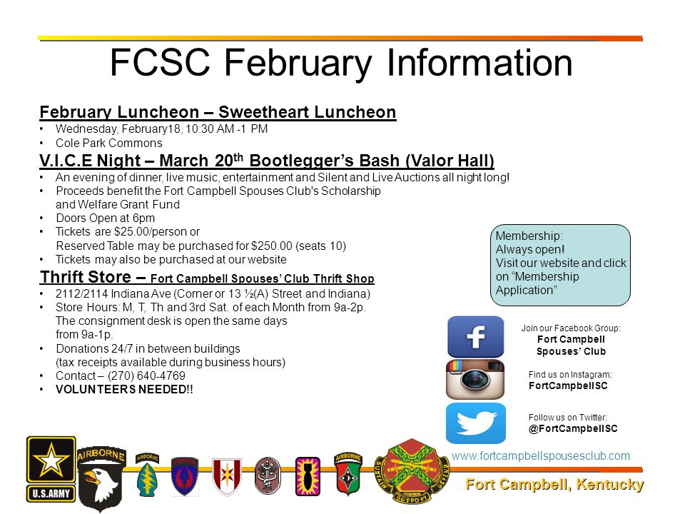 FCSC February Information