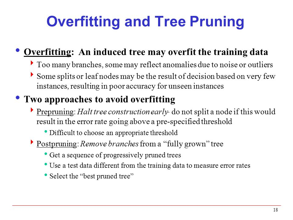 Overfitting and Tree Pruning