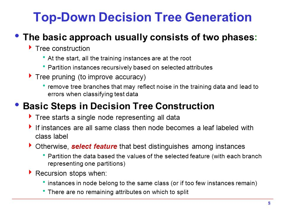 Top-Down Decision Tree Generation