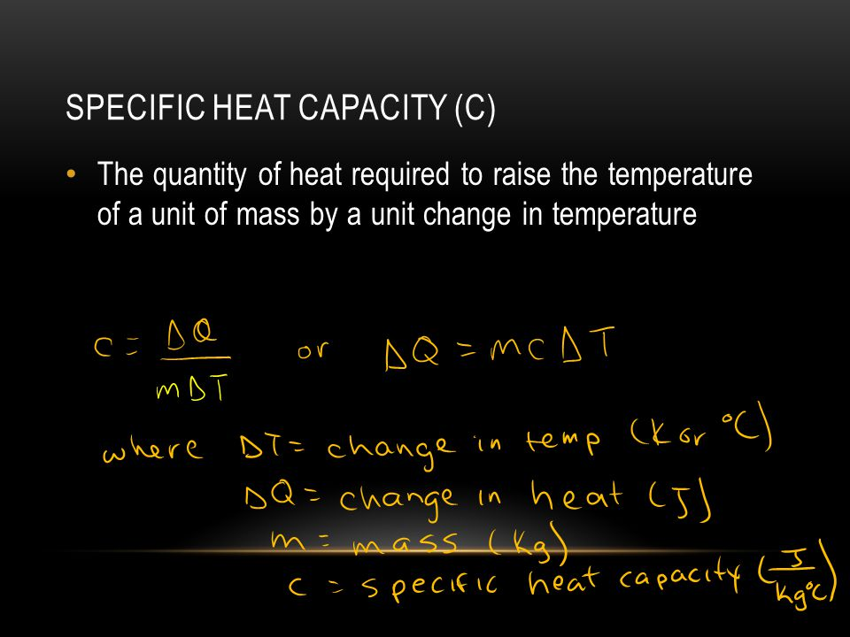 Specific Heat Capacity (c)