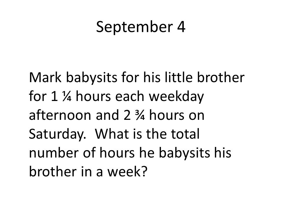 September 4