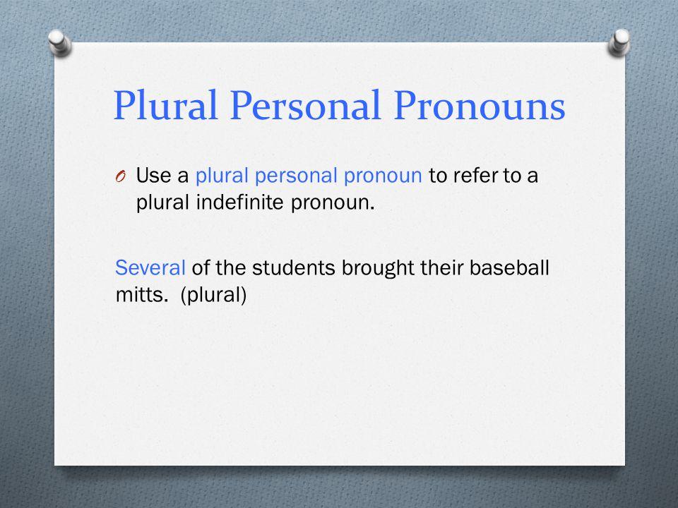 Plural Personal Pronouns