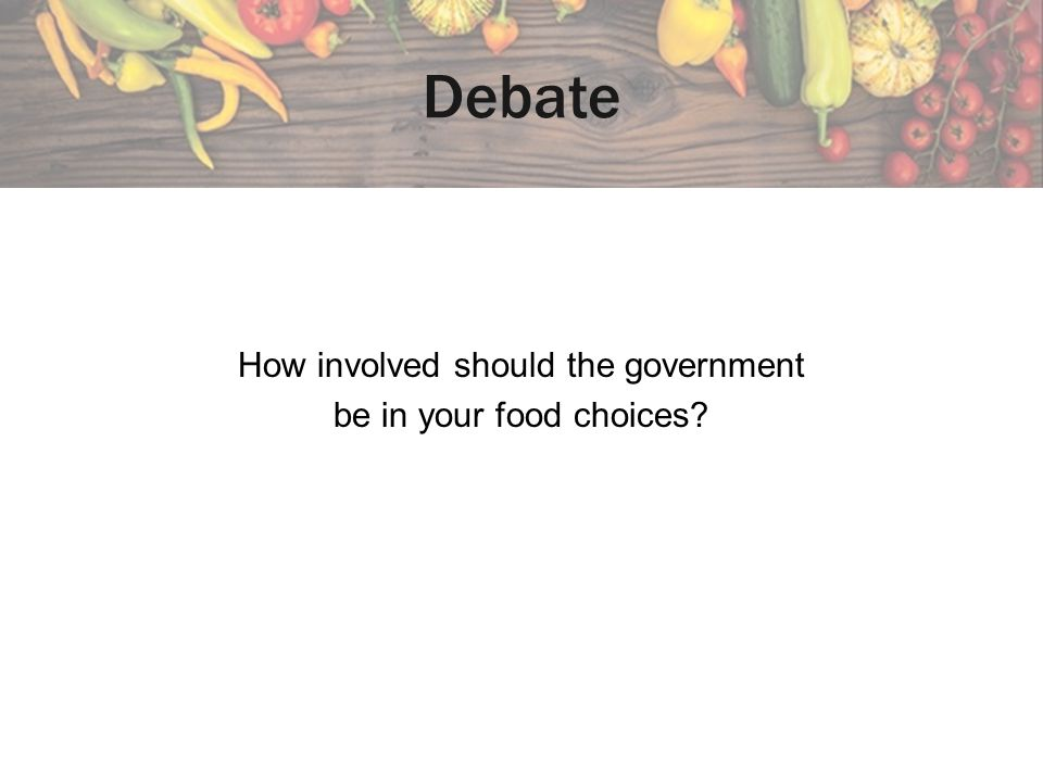 How involved should the government