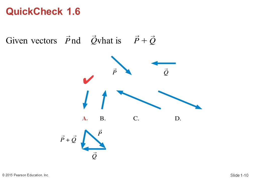QuickCheck 1.6 Given vectors and , what is A. 10