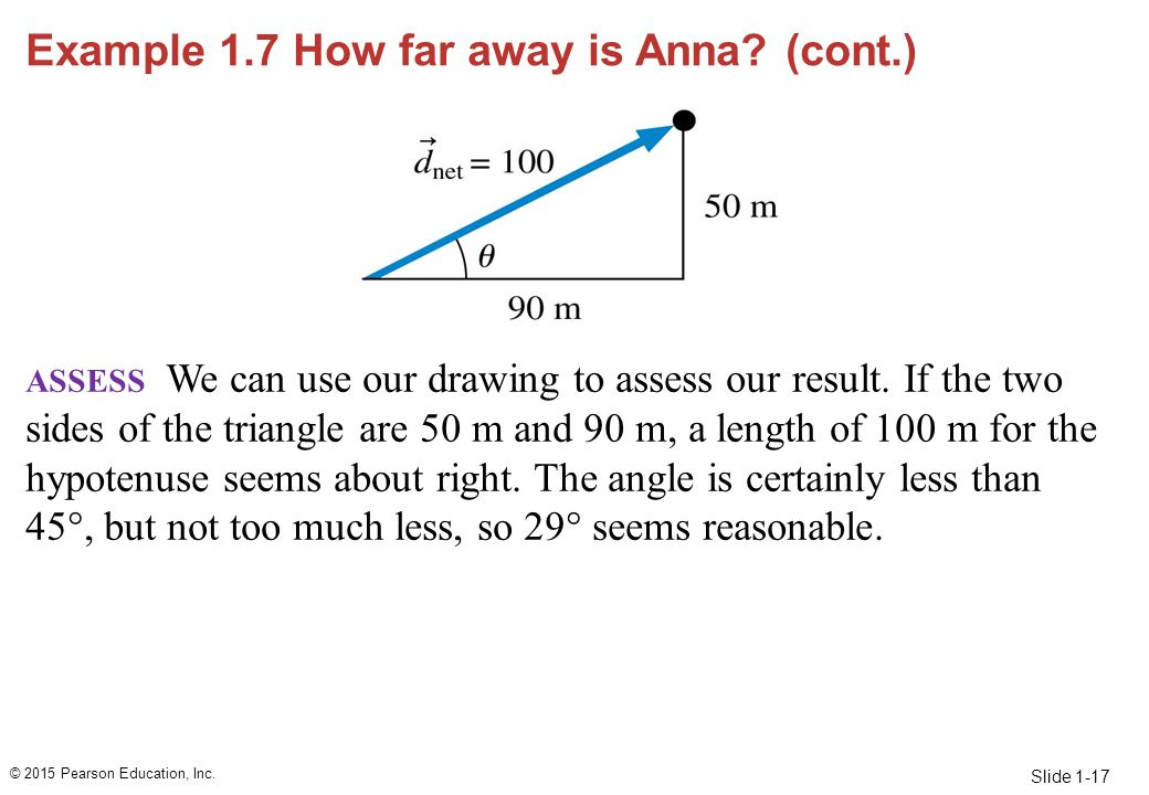 Example 1.7 How far away is Anna (cont.)