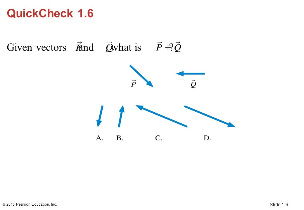 QuickCheck 1.6 Given vectors and , what is Answer: A