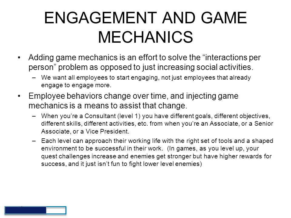 ENGAGEMENT AND GAME MECHANICS