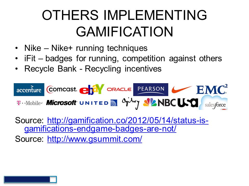 OTHERS IMPLEMENTING GAMIFICATION