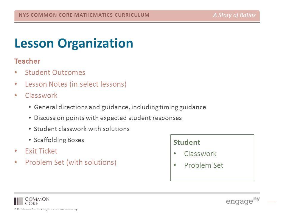 Lesson Organization Teacher Student Outcomes