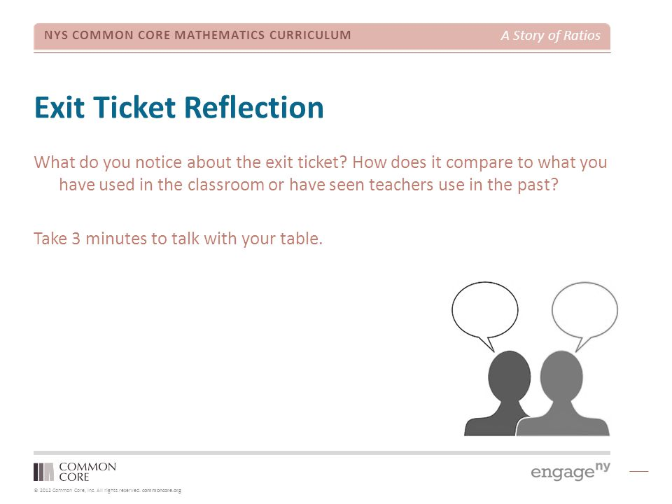 Exit Ticket Reflection
