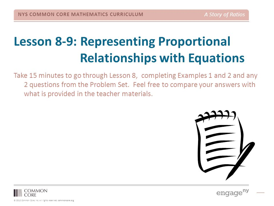 Lesson 8-9: Representing Proportional Relationships with Equations