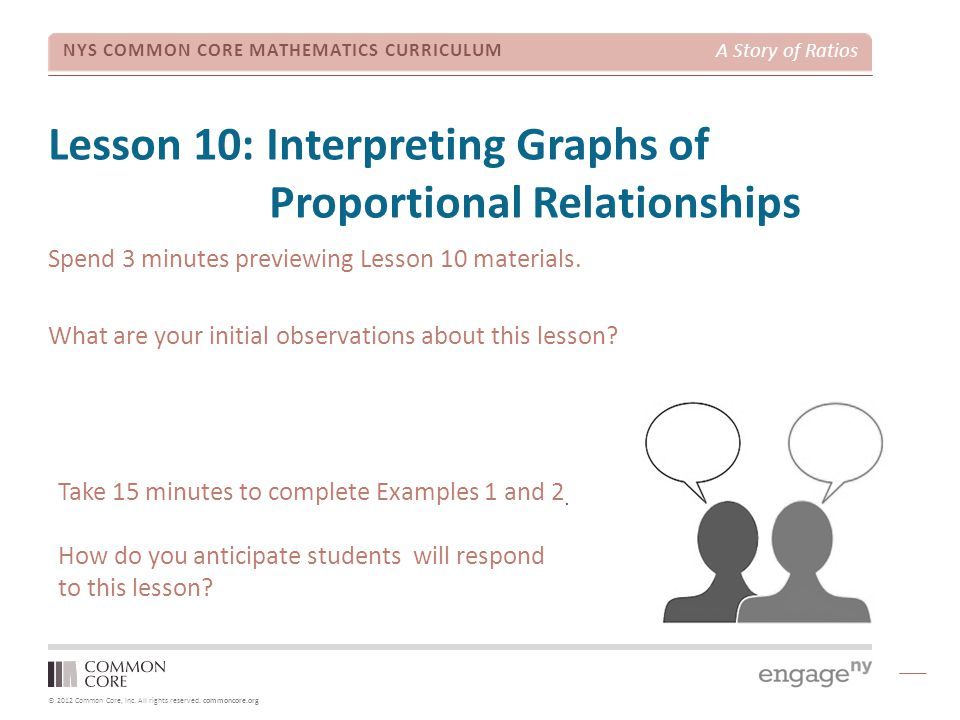 Lesson 10: Interpreting Graphs of Proportional Relationships