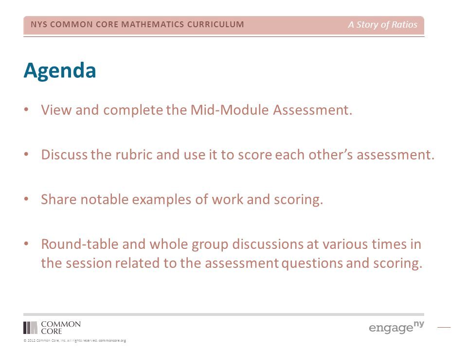 Agenda View and complete the Mid-Module Assessment.