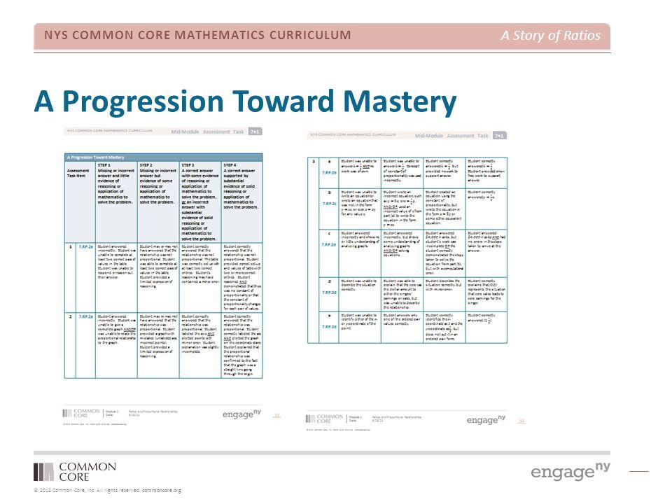 A Progression Toward Mastery