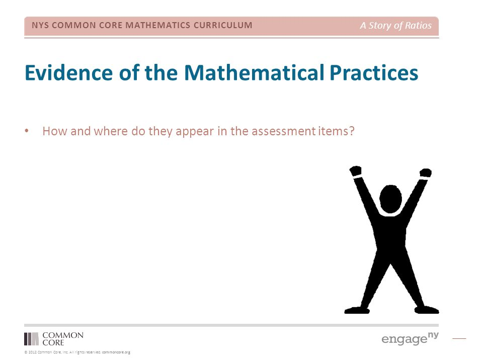 Evidence of the Mathematical Practices