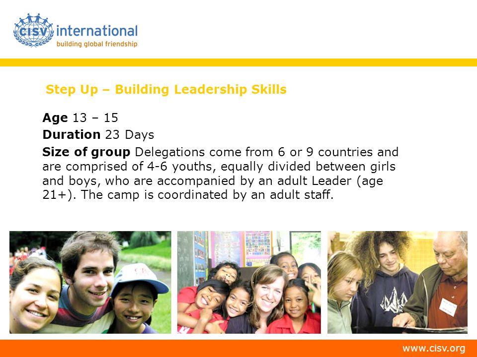 Step Up – Building Leadership Skills