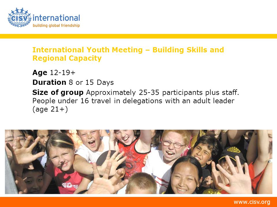 International Youth Meeting – Building Skills and Regional Capacity
