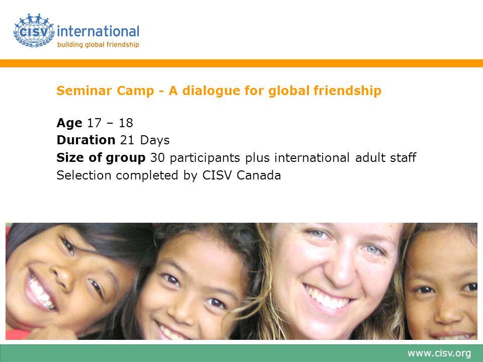 Seminar Camp - A dialogue for global friendship