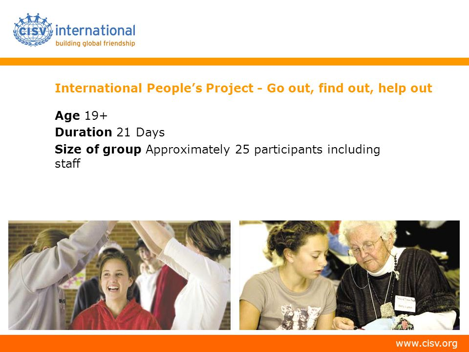 International People's Project - Go out, find out, help out