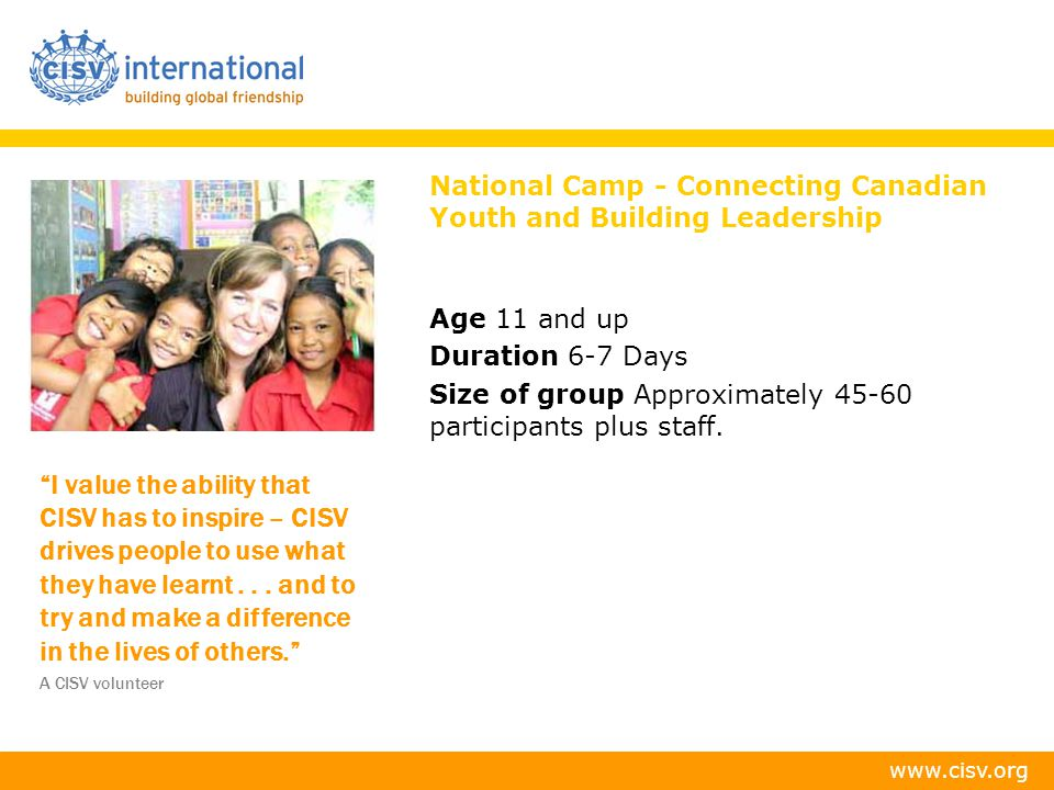 National Camp - Connecting Canadian Youth and Building Leadership
