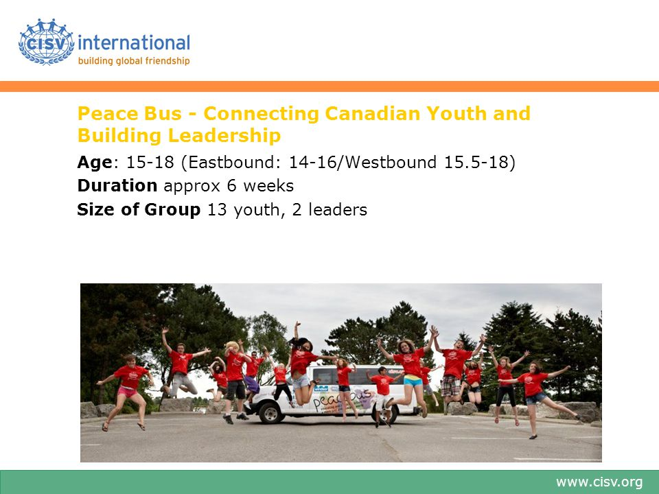 Peace Bus - Connecting Canadian Youth and Building Leadership