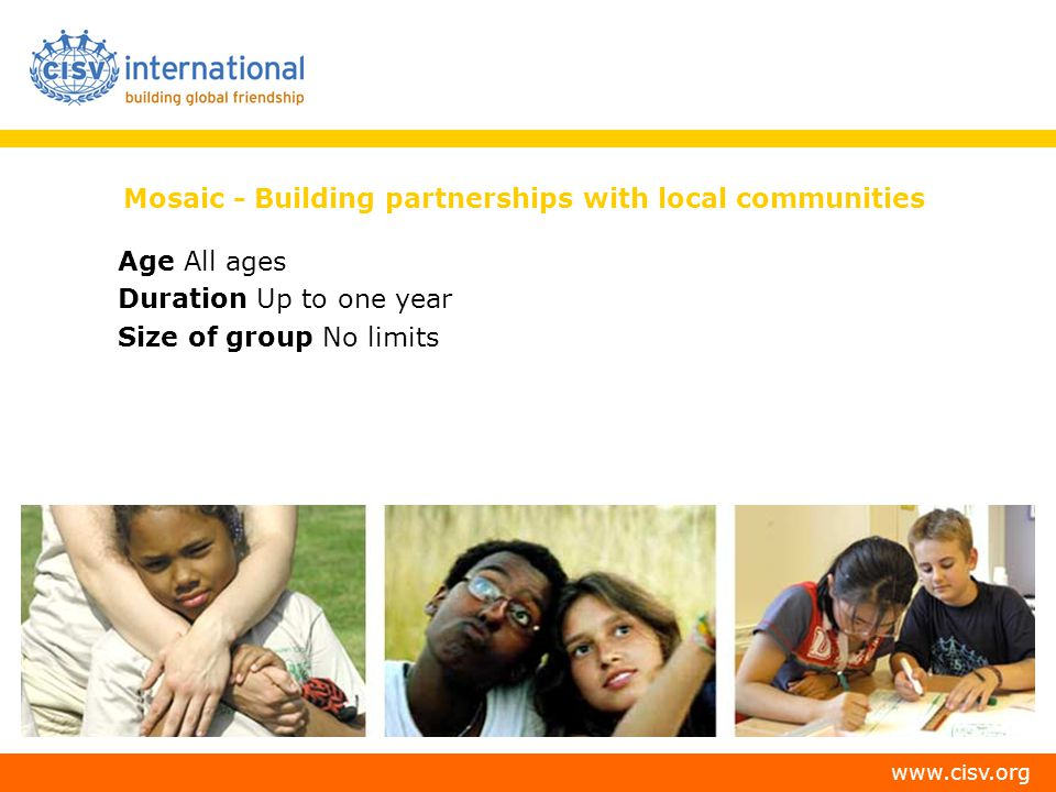Mosaic - Building partnerships with local communities