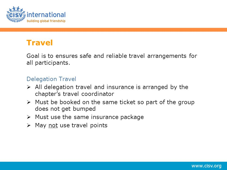 Travel Goal is to ensures safe and reliable travel arrangements for all participants. Delegation Travel.