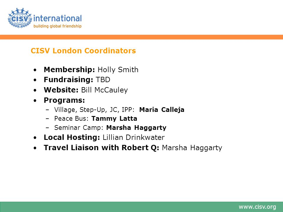 CISV London Coordinators