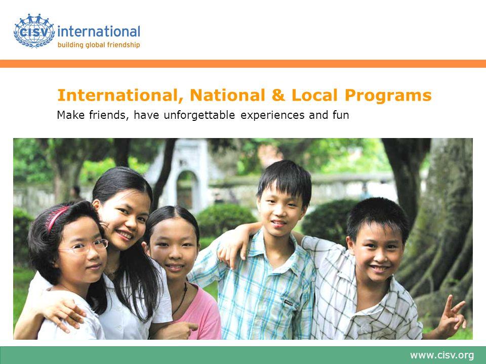 International, National & Local Programs
