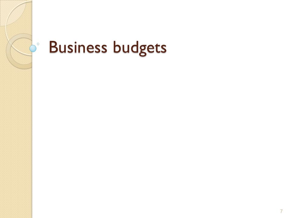 Business budgets