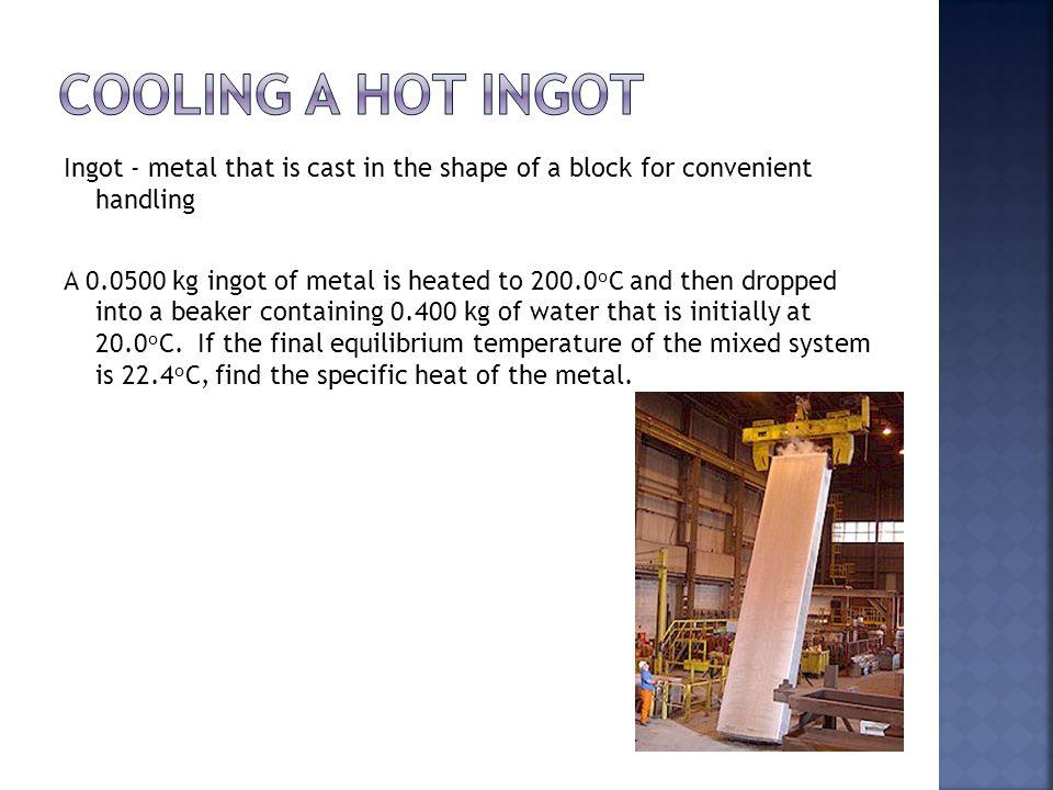 Cooling a hot ingot