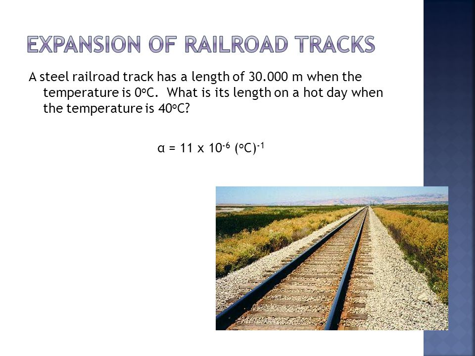 Expansion of Railroad Tracks