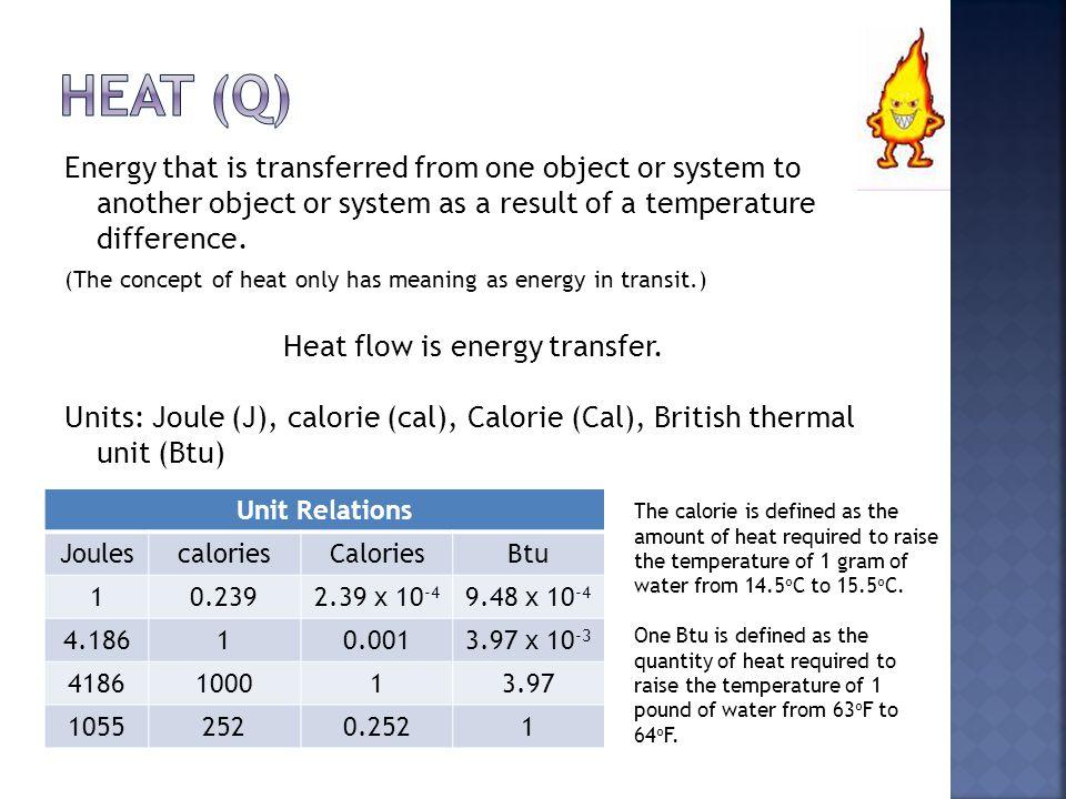 Heat flow is energy transfer.