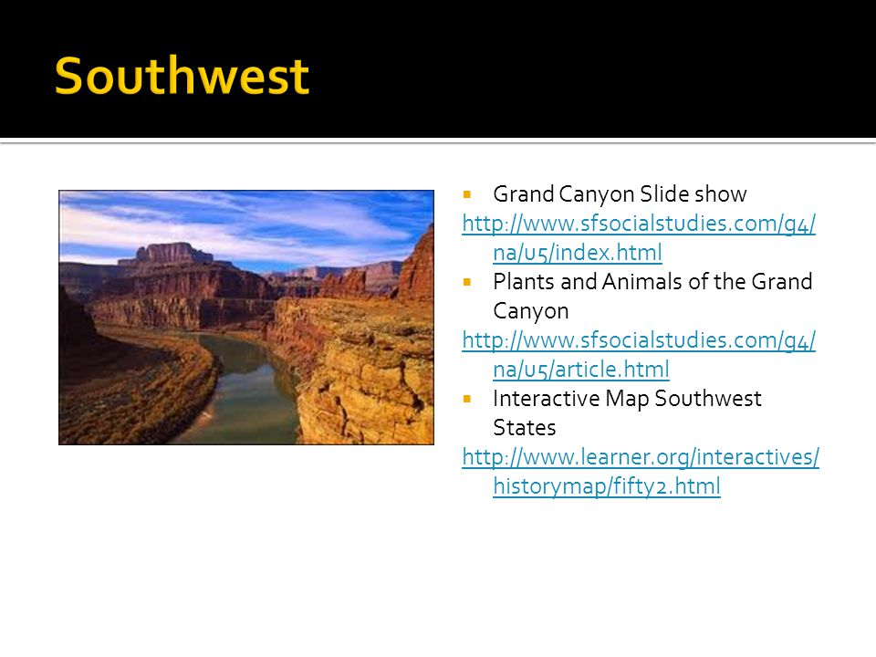 Southwest Grand Canyon Slide show
