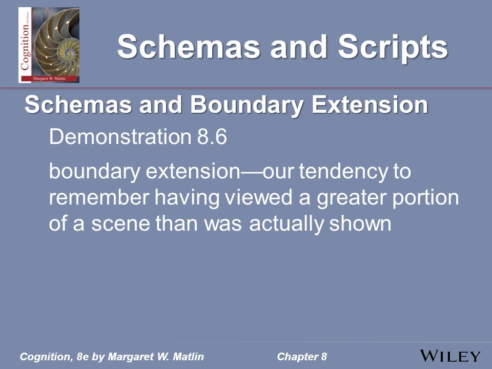 Schemas and Scripts Schemas and Boundary Extension Demonstration 8.6
