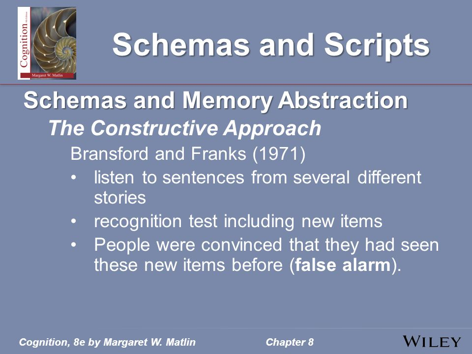Schemas and Scripts Schemas and Memory Abstraction