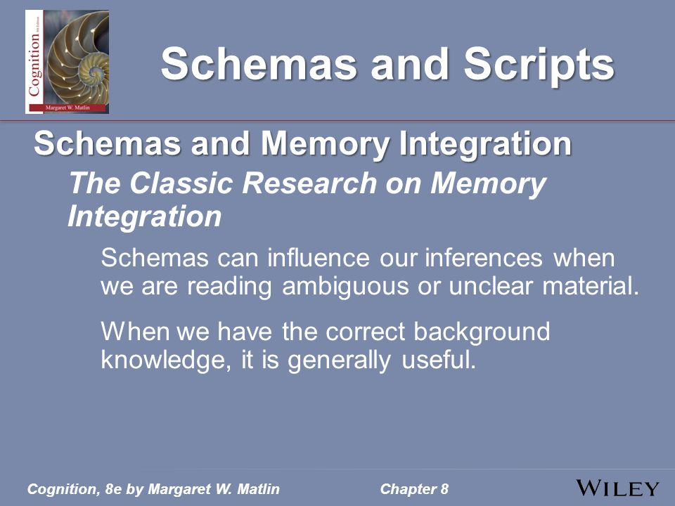 Schemas and Scripts Schemas and Memory Integration