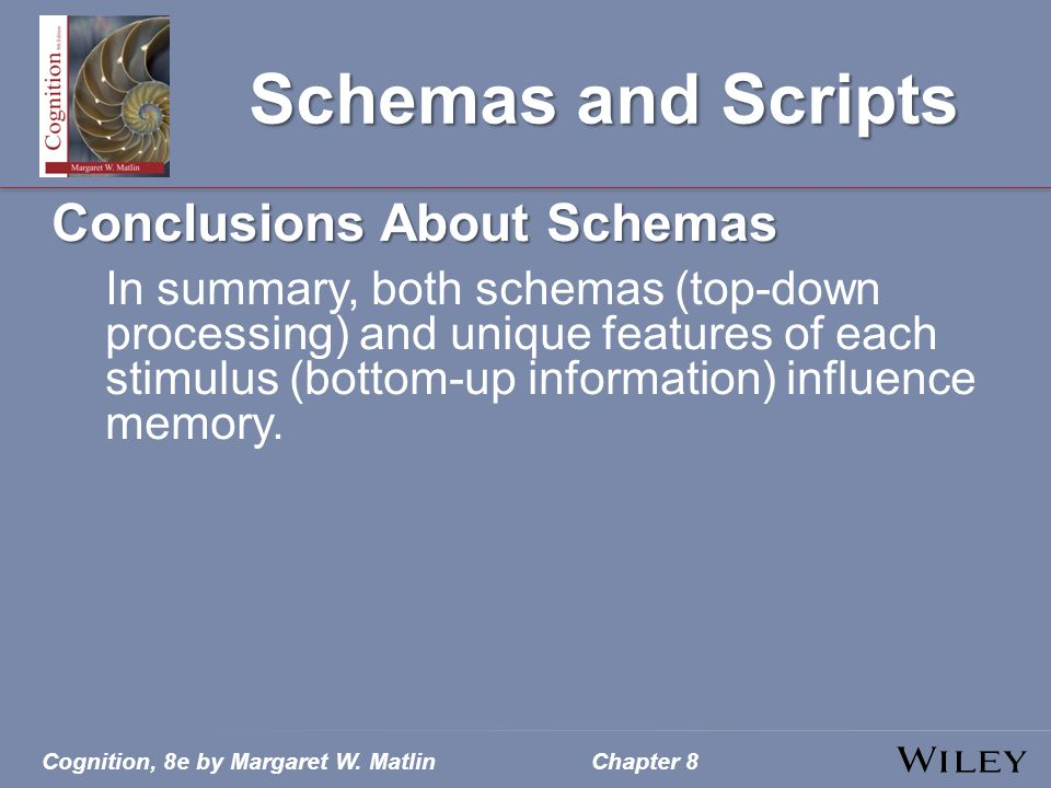 Schemas and Scripts Conclusions About Schemas