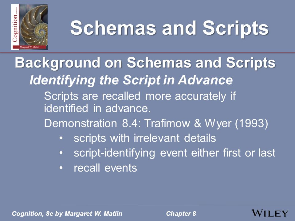 Schemas and Scripts Background on Schemas and Scripts