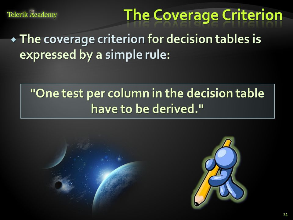 The Coverage Criterion