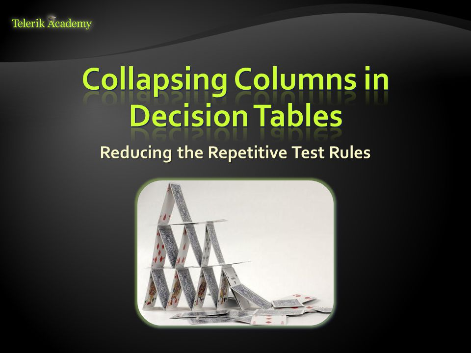 Collapsing Columns in Decision Tables