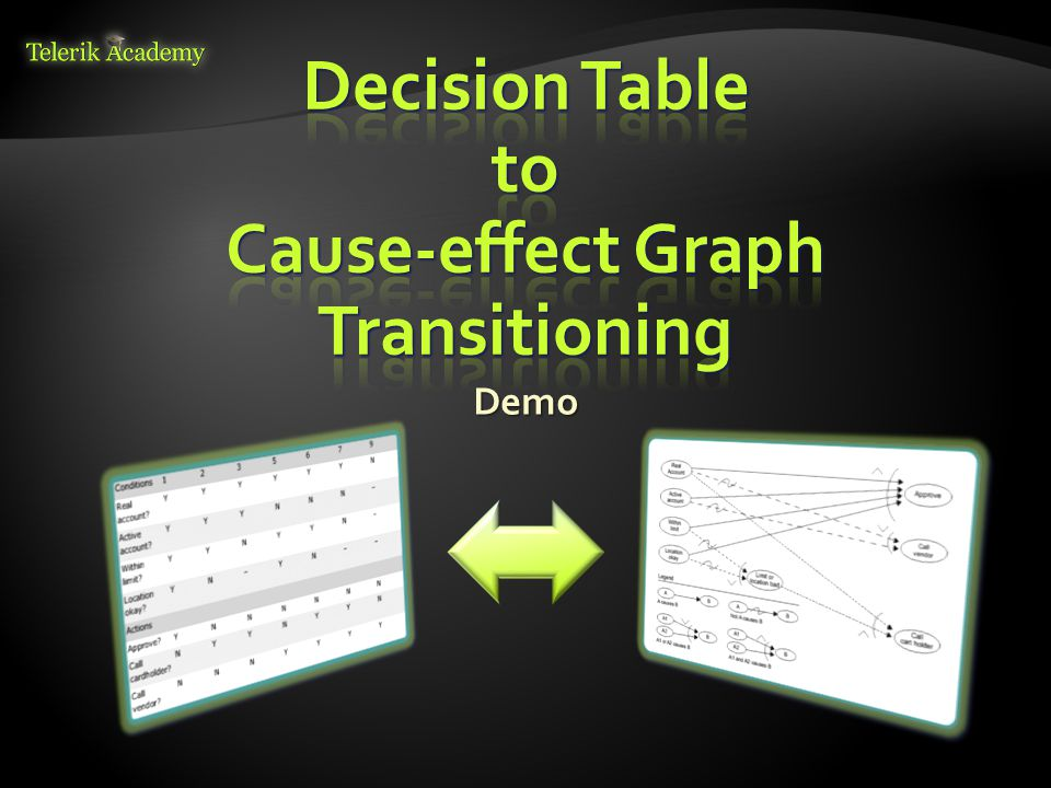 Decision Table to Cause-effect Graph Transitioning