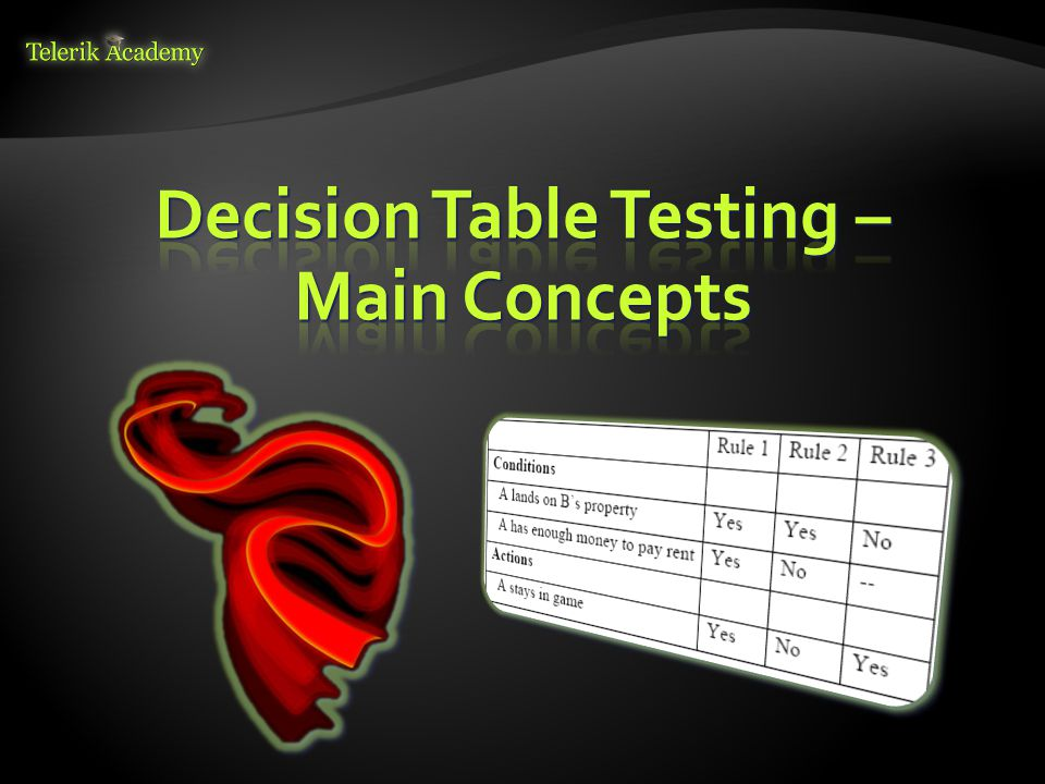 Decision Table Testing – Main Concepts