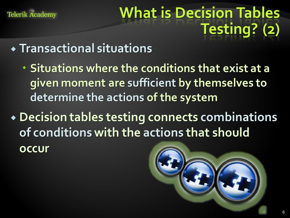 What is Decision Tables Testing (2)