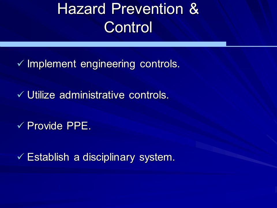 Hazard Prevention & Control